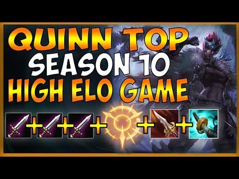 HOW TO BUILD QUINN TOP IN SEASON 10 (DORAN'S STACK + SANGUINE) - League Of Legends
