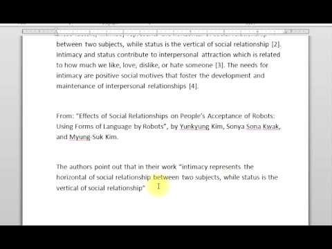 How to Do In Text Citation and a Signal Phrase in MLA - YouTube