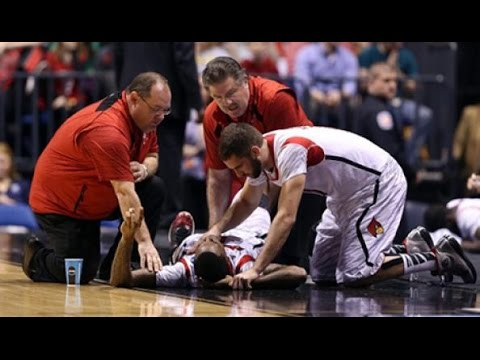 NBA - Kevin Ware injury leg break NCAA basketball Louisville horrific -  Slow motion 5218b50b5f7