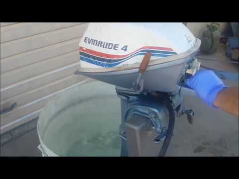 1977 Evinrude 4 HP Outboard Test Start