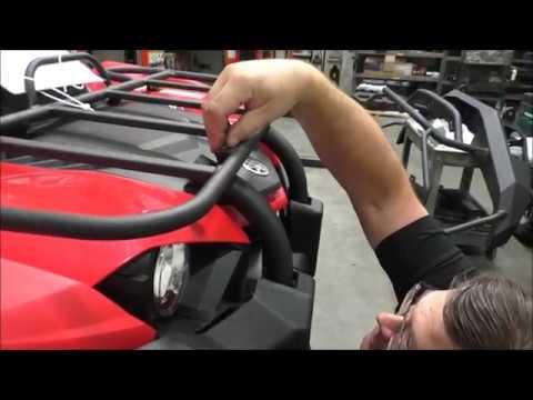 how to install a warn winch mount on the 2018 yamaha kodiak 450