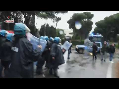 live feed: lazio fans clashing with the police ( again ) before the coppa italia final