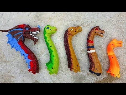 5 BRACHIOSAURUS! Dinosaur Walking And Laying Eggs | Dino Toys For kids~ G196V B茅 C谩