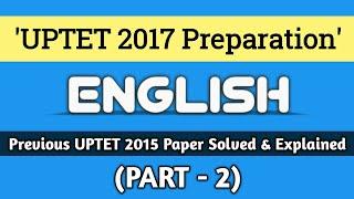 UPTET PREPARATION || ENGLISH (PART - 2) || हिन्दी में