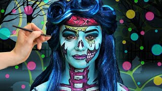 Awesome Zombie Face Paint | Happy Halloween! | WigglePop