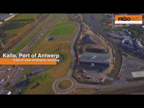 4.500 m² for D'Hollander Equipment in Port of Antwerp | Frisomat recycling buildings