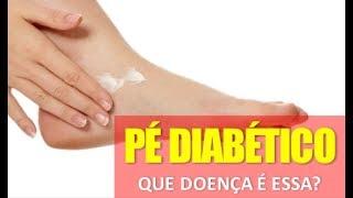 Pés devido a diabetes de queima