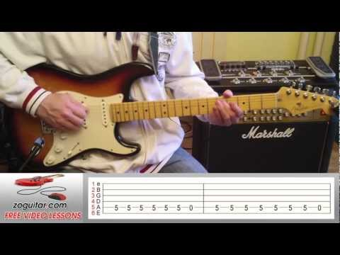 How To Play Ice Ice Baby by Vanilla Ice on Guitar (main riff) + TAB