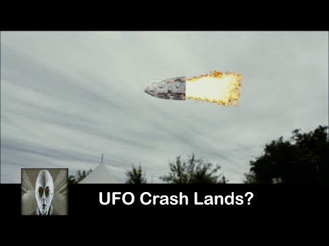 UFO Crash Lands What Is Going On?
