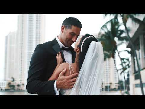 Intimate Yacht Wedding In Miami With Underwater Wedding Video