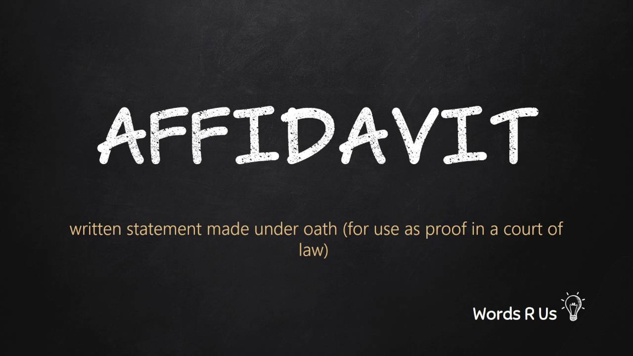 How to Pronounce AFFIDAVIT in American English