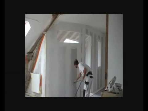 enduit interieur enduit de lissage peinture creapic youtube. Black Bedroom Furniture Sets. Home Design Ideas