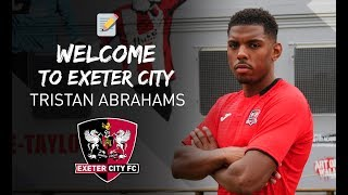 FIRST INTERVIEW: Tristan Abrahams on joining City on loan | Exeter City Football Club