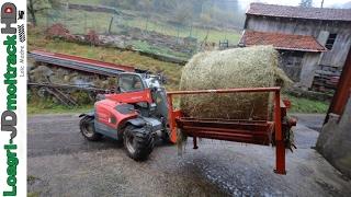 Alimentation des bovins (VL) en ferme de montagne - Weidemann T4512