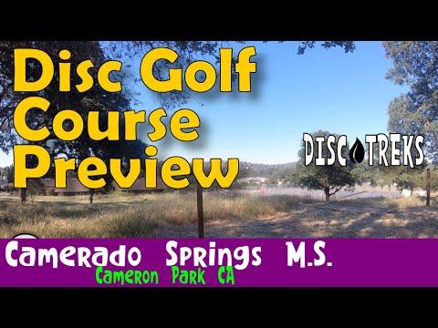 Trek XI - 9-hole junior disc golf course Camerado Springs Middle School