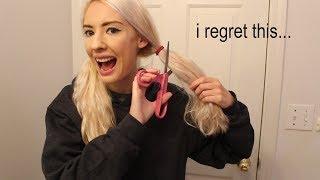 i cut my hair with craft scissors *fail*