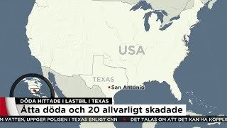 Döda och skadade hittade i lastbil - misstänkt trafficking - Nyheterna (TV4)