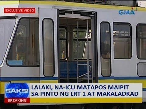 Saksi: Lalaki, na-ICU matapos maipit sa pinto ng LRT 1 at makaladkad