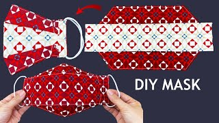 New Style 2 Tone Diy 3D Face Mask No Fog On Glasses Easy Pattern Sewing Tutorial How to Make Mask