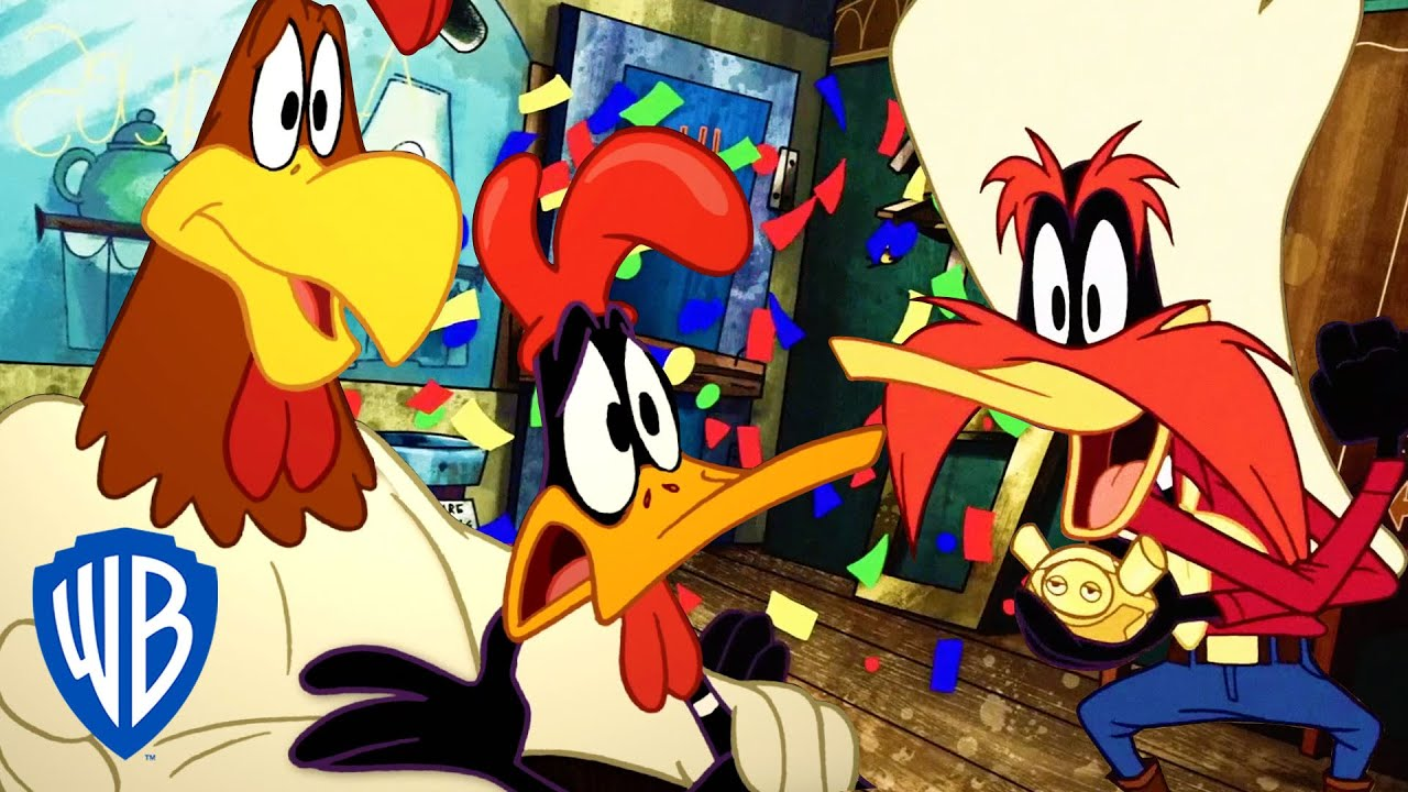 Looney Tunes | The Four-Way Fight Scene | WB Kids