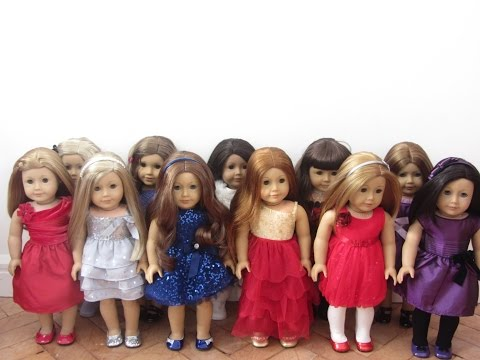 Dressing My American Girl Dolls In Their Holiday Outfits.