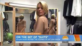 Dylan Dreyer - modeling dress and strappy high heels - August 9, 2015