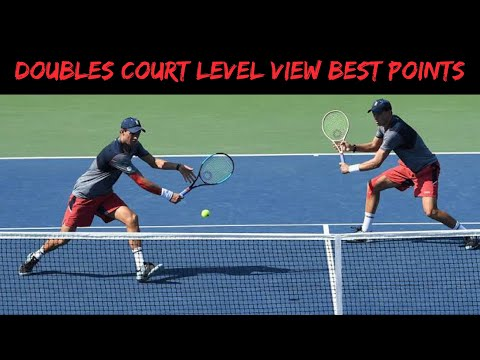 Doubles Court Level View Best Points ● Tennis On Another Level