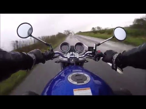 Riding in the RAIN..RAIN..RAIN.. Suzuki bandit 600 GoPRO HERO 4 HD