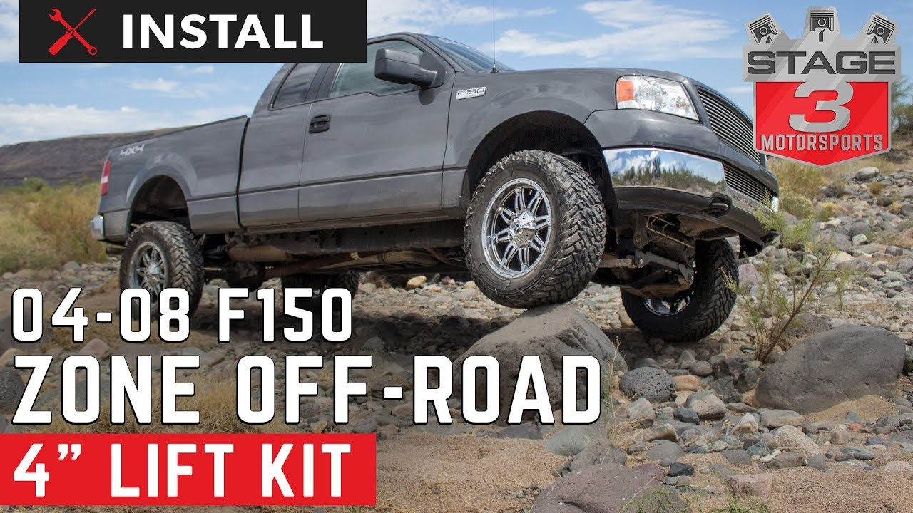 2004-2008 Ford F-150 Zone 4 Inch Lift Kit Install - YouTube