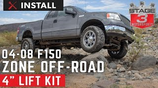 2004-2008 Ford F-150 Zone 4 Inch Lift Kit Install