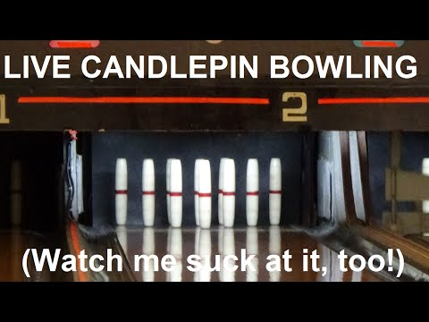 LIVE CANDLEPIN BOWLING! (5/24/2016) Masons Rec Center, Leominster, MA