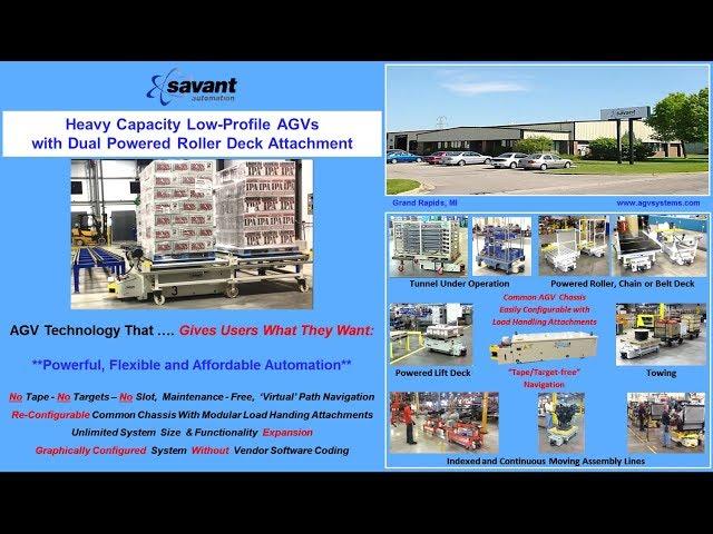 SAVANT AGV/AGC High Capacity Dual Roller Deck System