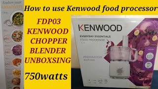 Kenwood food processor ||How t…