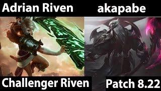 [ Adrian Riven ] Riven vs Darius [ akapabe ] Top  - Adrian Riven Montage