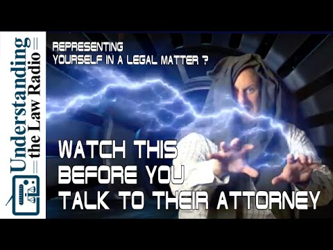 Don't Talk to an Attorney without Watching This!: Represent Yourself | UTLRadio.com