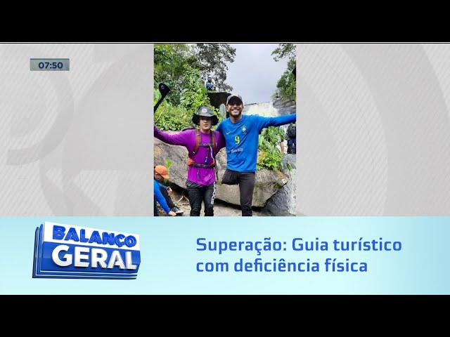 Superação: Guia turístico com deficiência física encara as trilhas dentro da mata