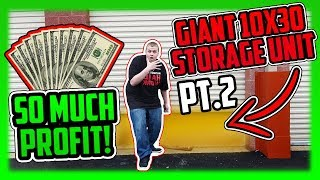 I Bought An Abandoned Storage Unit For $10 And Made SO MUCH MONEY! GIGANTIC STORAGE UNIT PART 2