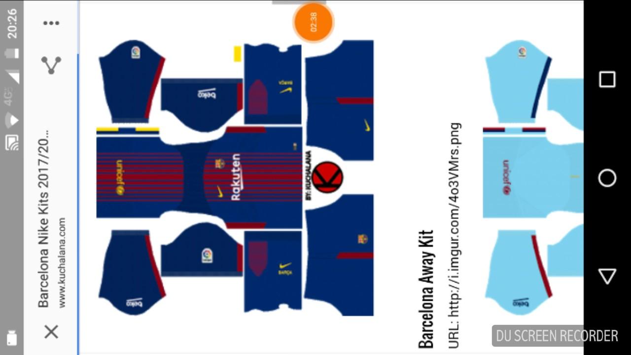 Dream League Soccer/Descargando la equipación del FC BARCELONA ...