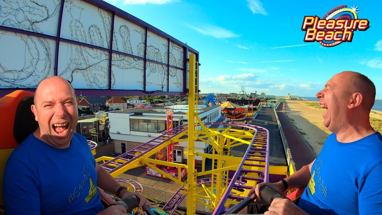 Family Star Spinning Roller Coaster On-Ride POV 4K | Great Yarmouth Pleasure Beach