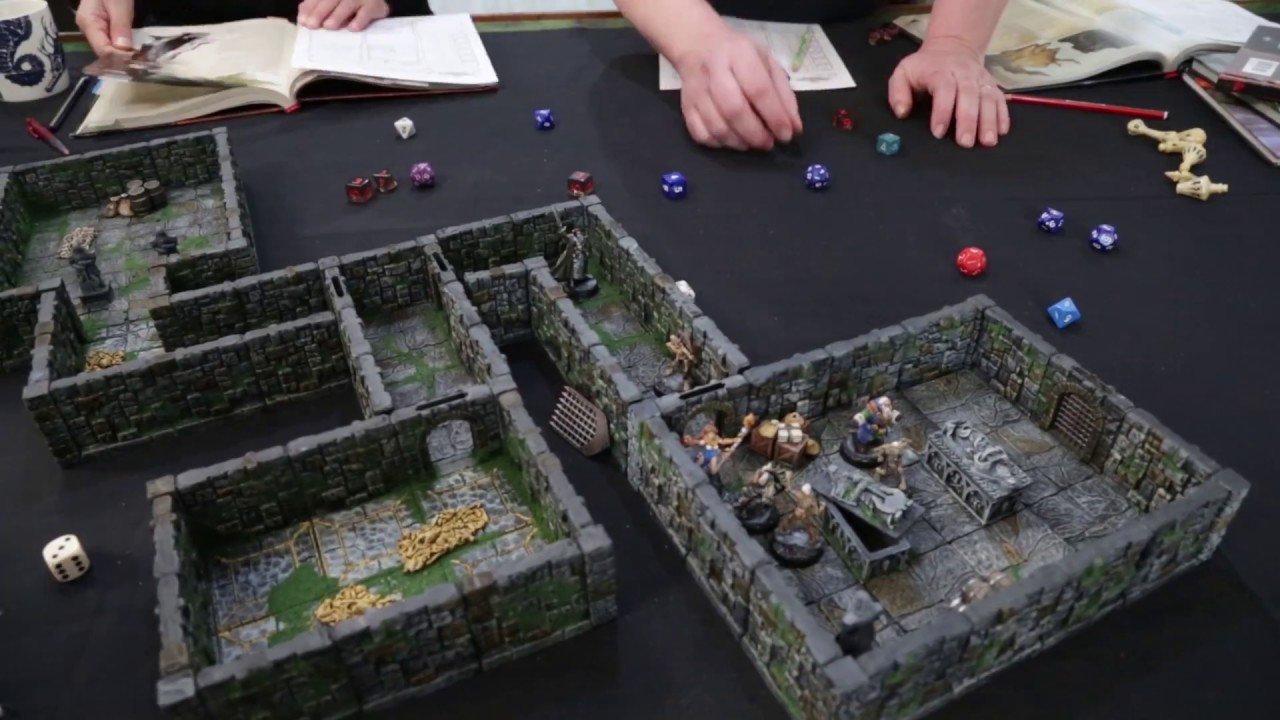 Rampage Dungeon tiles lock together so you can build complete rooms