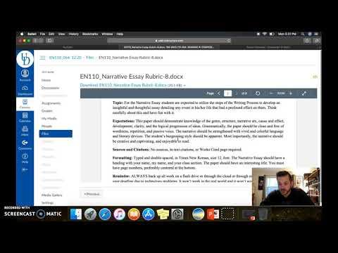 Видео Narrative essay assignment sheet