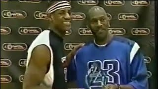 LeBron James meets Michael Jordan for very first time