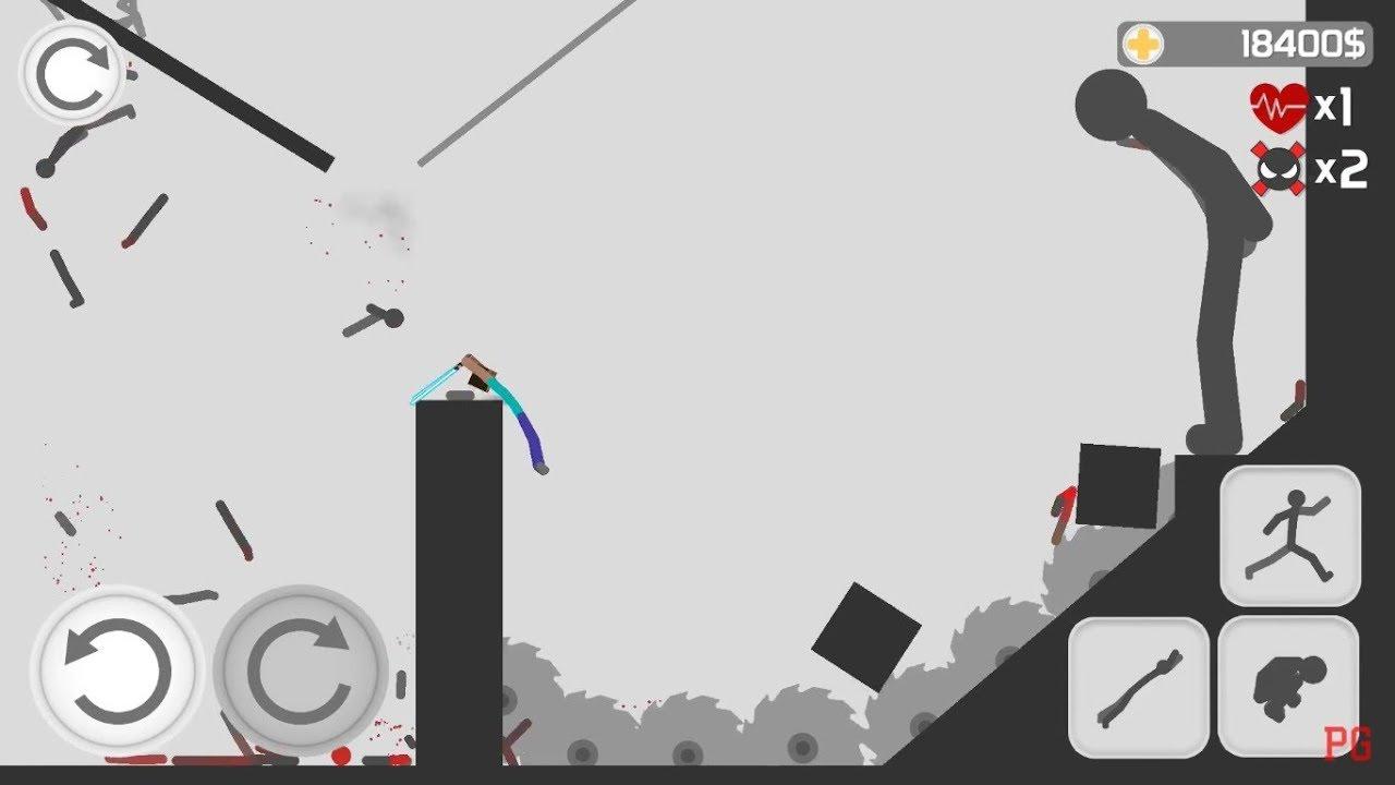 Stickman Backflip Killer 3 Part 5 100% COMPLETE (by BeatenPixel) / Android Gameplay HD