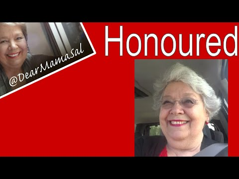 Honoured/Honored is the feeling today - DearMamaSal