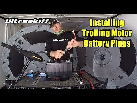 How to Install Trolling Motor and Battery Plugs | Ultraskiff 360 Watercraft Kayak Trolling Motor Wiring Diagram on