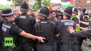 UK: Scuffles break out at Palestinian solidarity demo, arrests made