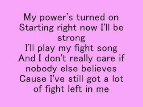 Rachel Platten- Fight Song Lyrics