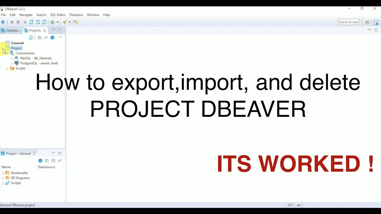 How to Export(backup), Import(restore), Delete Project Dbeaver || ITS  WORKED 100%