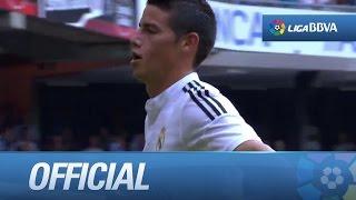 Espectacular gol de James Rodríguez (0-2) Deportivo de la Coruña - Real Madrid