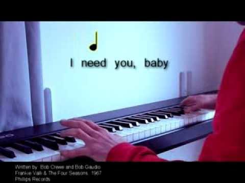 Can't Take My Eyes Off You - Piano Karaoke Sing Along!